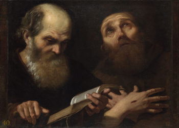 Saints Anthony Abbot and Francis of Assisi | Andrea Sacchi | oil painting