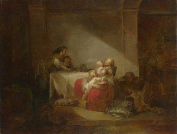 Interior Scene | Jean-Honore Fragonard | oil painting