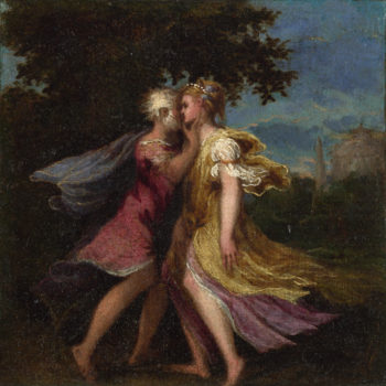 Jupiter seducing Callisto | Andrea Schiavone | oil painting