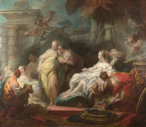 Psyche showing her Sisters her Gifts from Cupid | Jean-Honore Fragonard | oil painting
