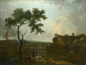 Holt Bridge on the River Dee | Richard Wilson | oil painting