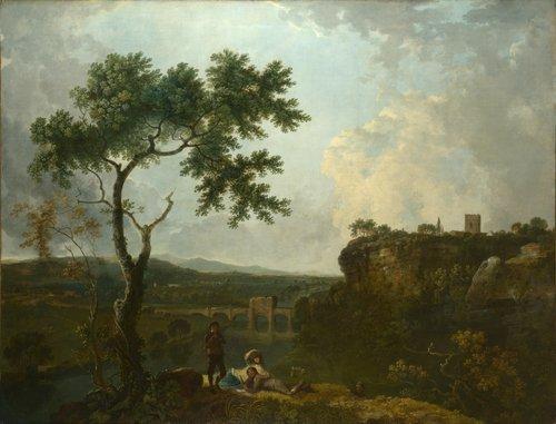 Holt Bridge on the River Dee | Richard Wilson | oil painting