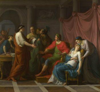 Virgil reading the Aeneid to Augustus and Octavia | Jean-Joseph Taillasson | oil painting