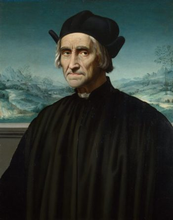 Portrait of Girolamo Benivieni | Ridolfo Ghirlandaio | oil painting