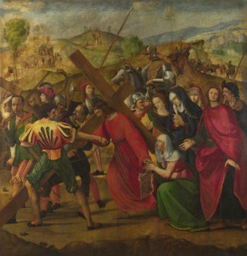 The Procession to Calvary | Ridolfo Ghirlandaio | oil painting