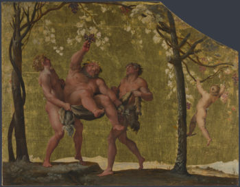 Silenus gathering Grapes | Annibale Carracci | oil painting