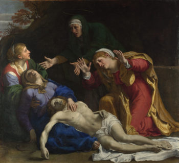 The Dead Christ Mourned (The Three Maries) | Annibale Carracci | oil painting
