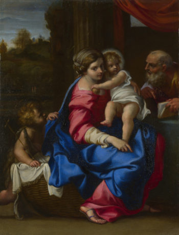 The Holy Family with the Infant Saint John the Baptist   Annibale Carracci   oil painting