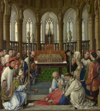 The Exhumation of Saint Hubert | Rogier van der Weyden and workshop | oil painting