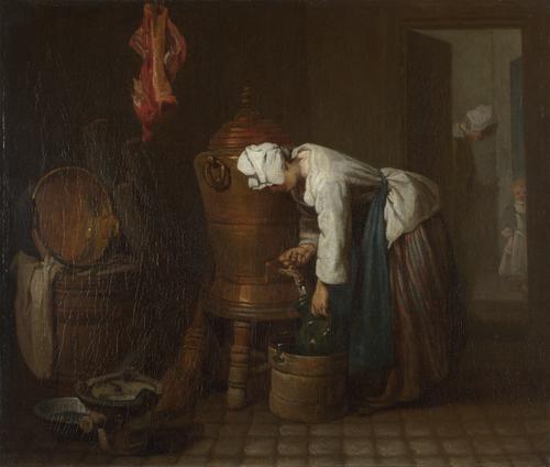 La Fontaine (The Water Cistern) | Jean-Simeon Chardin | oil painting