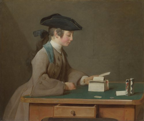 The House of Cards | Jean-Simeon Chardin | oil painting