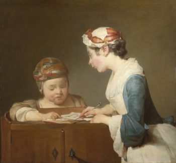 The Young Schoolmistress | Jean-Simeon Chardin | oil painting