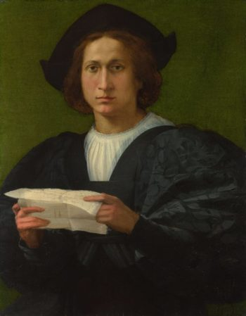 Portrait of a Young Man holding a Letter | Rosso Fiorentino | oil painting