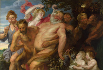 Drunken Silenus supported by Satyrs | Anthony van Dyck | oil painting