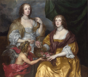 Lady Elizabeth Thimbelby and her Sister   Anthony van Dyck   oil painting