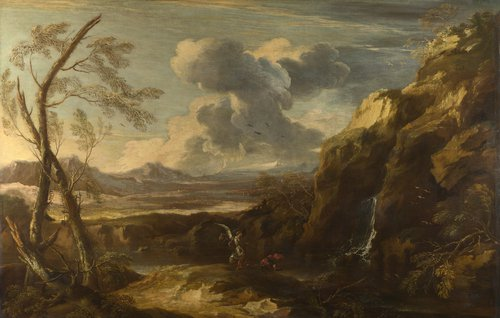 Landscape with Tobias and the Angel | Salvator Rosa | oil painting