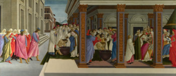 Four Scenes from the Early Life of Saint Zenobius | Sandro Botticelli | oil painting