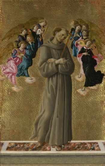 Saint Francis of Assisi with Angels   Sandro Botticelli   oil painting