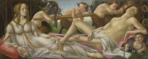 Venus and Mars   Sandro Botticelli   oil painting