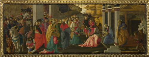 Adoration of the Kings | Sandro Botticelli and Filippino Lippi | oil painting