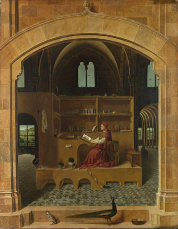 Saint Jerome in his Study | Antonello da Messina | oil painting