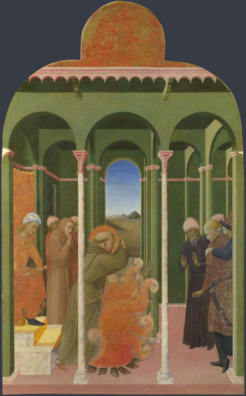 Saint Francis before the Sultan | Sassetta | oil painting