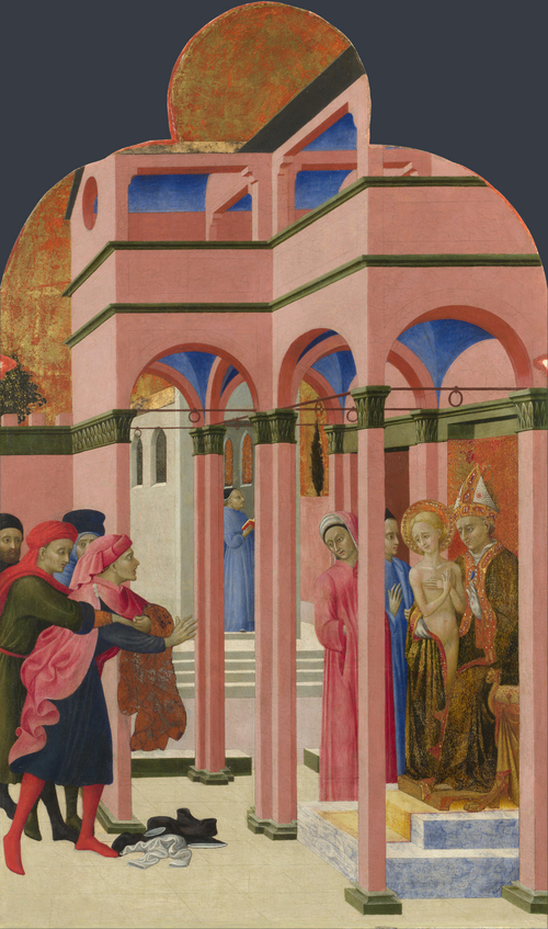 Saint Francis renounces his Earthly Father | Sassetta | oil painting