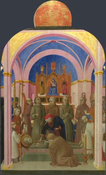 The Funeral of Saint Francis | Sassetta | oil painting