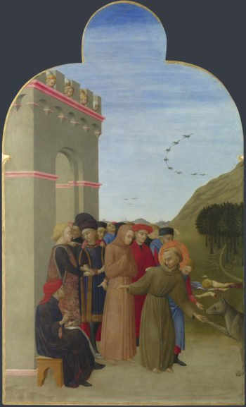 The Wolf of Gubbio | Sassetta | oil painting