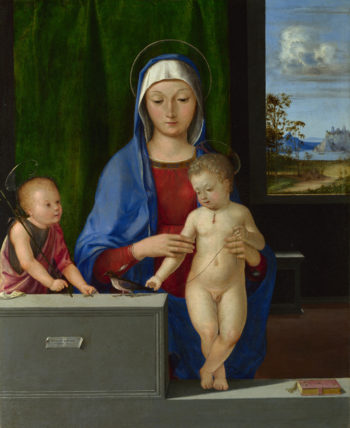 The Virgin and Child with Saint John | Antonio de Solario | oil painting