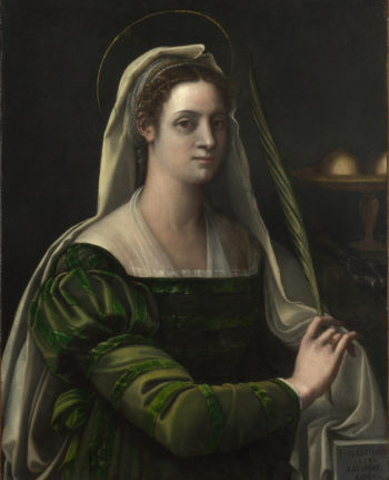 Portrait of a Lady with the Attributes of Saint Agatha | Sebastiano del Piombo | oil painting