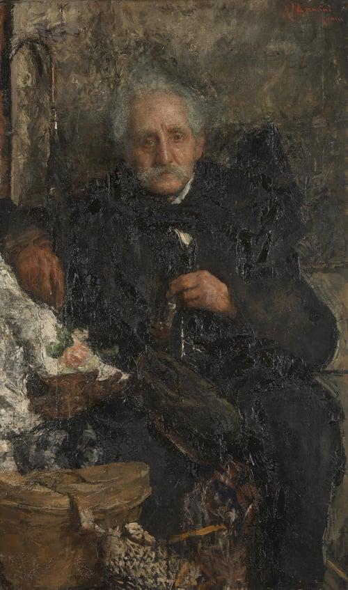 On a Journey   Antonio Mancini   oil painting