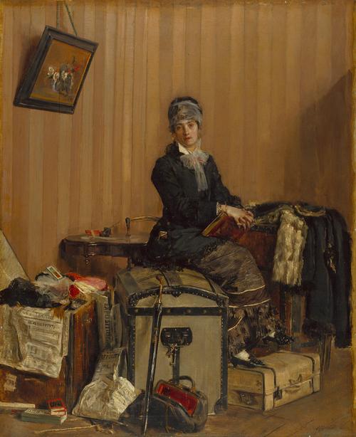 The Customs | Antonio Mancini | oil painting