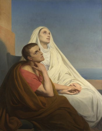 Saints Augustine and Monica | Ary Scheffer | oil painting