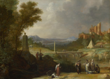 The Finding of the Infant Moses by Pharaoh's Daughter | Bartholomeus Breenbergh | oil painting