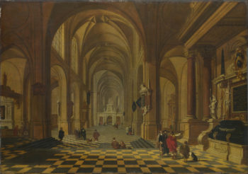 Interior of a Church | Bartholomeus van Bassen | oil painting