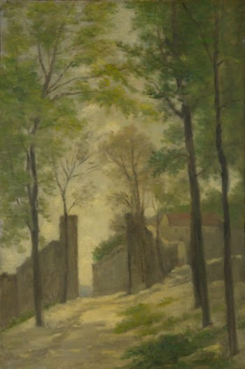A Gateway behind Trees | Stanislas-Victor-Edmond Lepine | oil painting