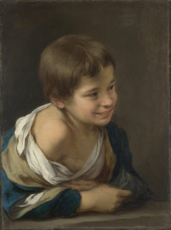 A Peasant Boy leaning on a Sill | Bartolome Esteban Murillo | oil painting