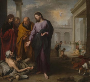 Christ healing the Paralytic at the Pool of Bethesda | Bartolome Esteban Murillo | oil painting