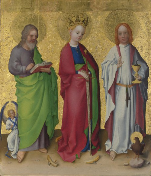 Three Saints | Stephan Lochner | oil painting