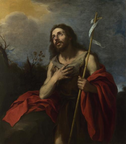 Saint John the Baptist in the Wilderness   Bartolome Esteban Murillo   oil painting