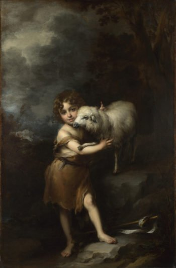 The Infant Saint John with the Lamb | Bartolome Esteban Murillo | oil painting