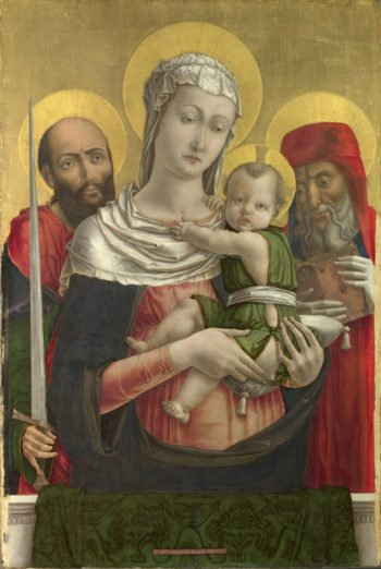 The Virgin and Child with Saints Paul and Jerome | Bartolomeo Vivarini | oil painting
