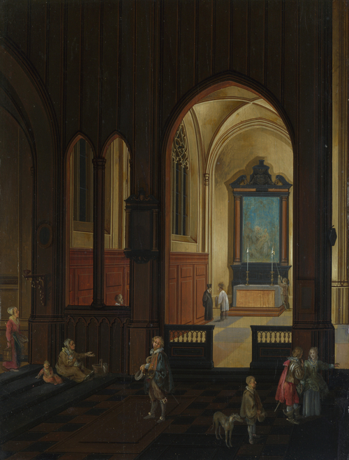 View of a Chapel at Evening | Studio of Pieter Neeffs the Elder | oil painting