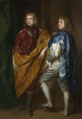 Portraits of Two Young Englishmen | Style of Anthony van Dyck | oil painting