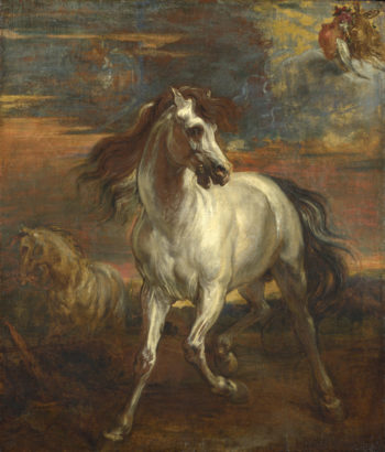The Horses of Achilles | Style of Anthony van Dyck | oil painting
