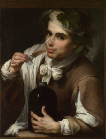 A Young Man Drinking | Style of Bartolome Esteban Murillo | oil painting