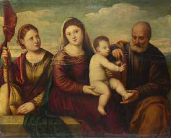 The Madonna and Child with Saints | Bernardino Licinio | oil painting