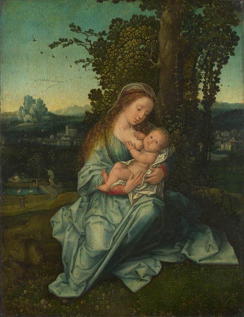 The Virgin and Child in a Landscape | Style of Bernaert van Orley | oil painting
