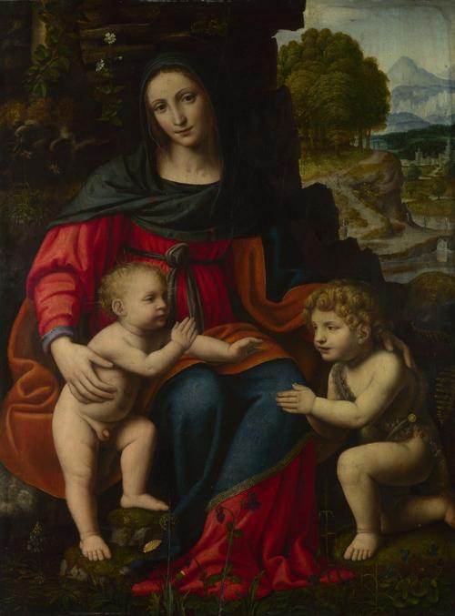 The Virgin and Child with Saint John | Bernardino Luini | oil painting